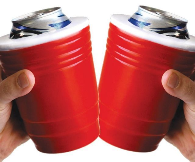 Red Solo cup koozies..