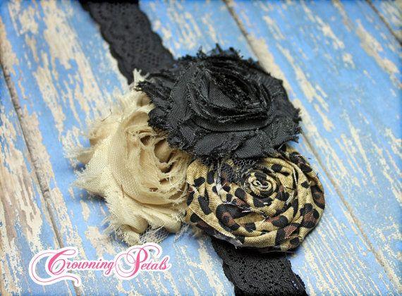 Leopard Hair Accessory Cheetah Headband Beige by CrowningPetals, $16.50