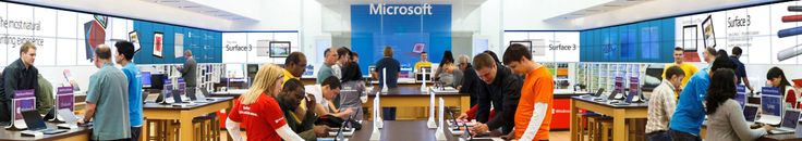 Inside a Microsoft store