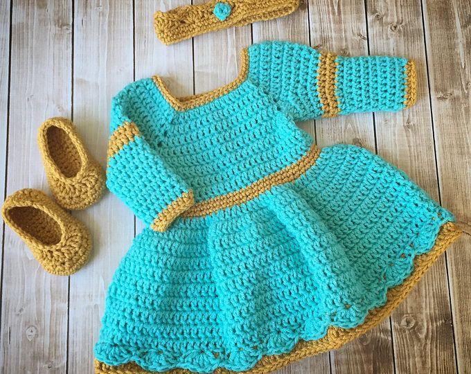 Princesa Merida valiente inspira traje de ganchillo/traje de la princesa Merida vestido/Mérida / foto princesa Prop recién nacido a 12 meses - hecho por encargo