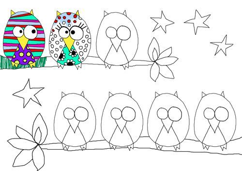 Spiffy up an owl. Fun drawing/doodling project. Could be a fun class project at…