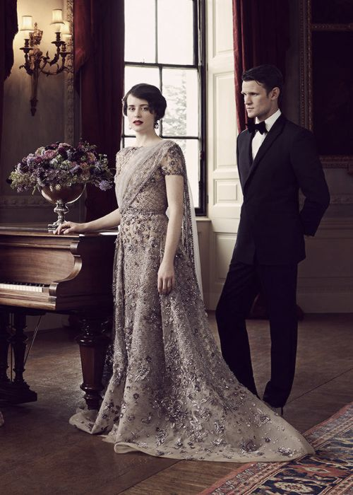 Matt Smith and Claire Foy promoting The Crown