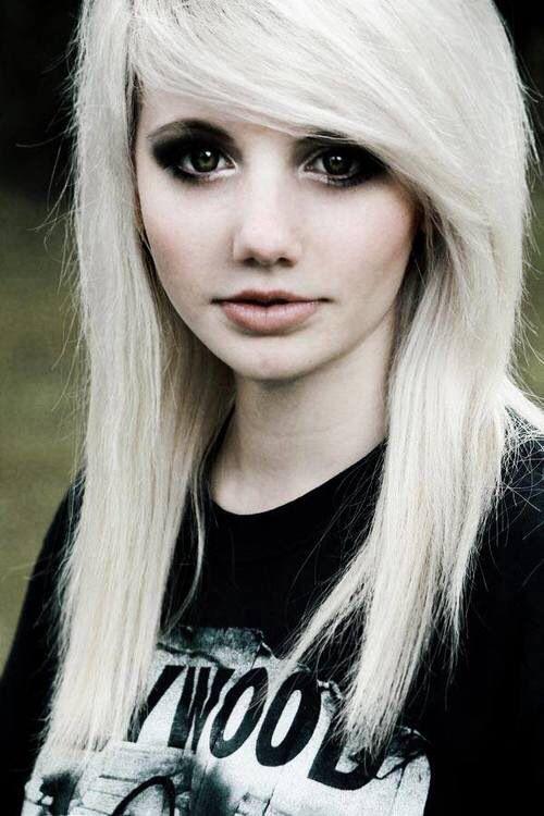 girls with blonde Emo hair scene