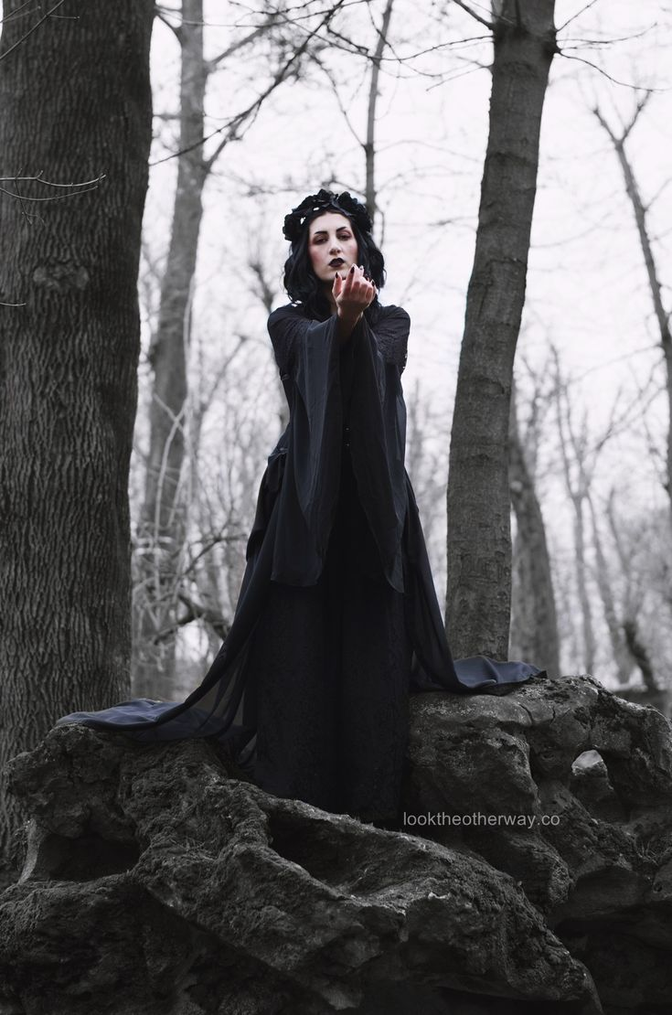 Woods to Conjure - Style Suggestions - Looktheotherway.co  #gothic #witch #witchcraft #witcherystyle #gothicbeauty #gothgirl