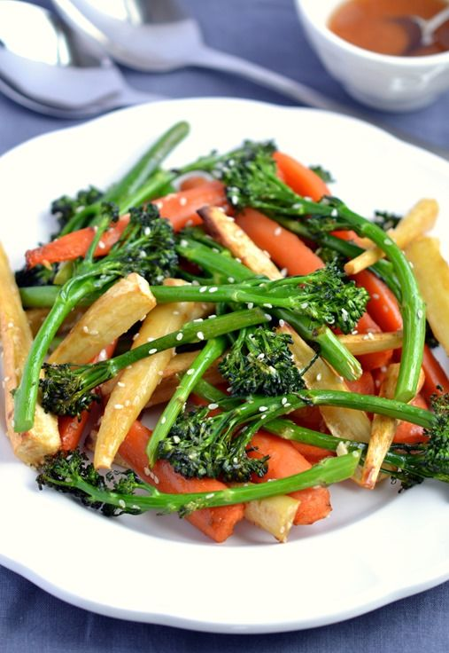 Sticky Roasted Vegetables with Sesame-Miso Dressing ...