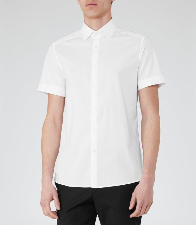 bed545ee9b Redmayne Cotton Short Sleeve Shirt - REISS