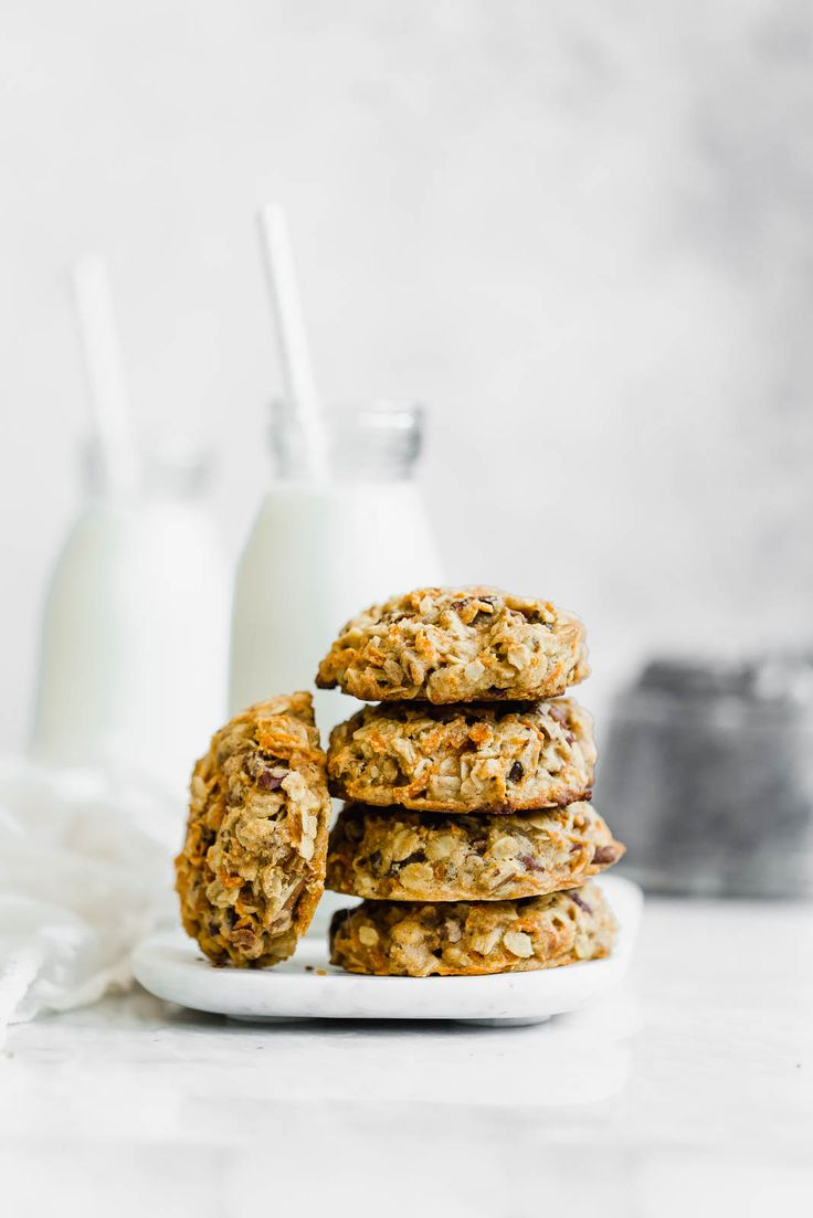 Healthy Carrot Cake Breakfast Cookies from the Love Real Food cookbook. Because you CAN eat cookies for breakfast!