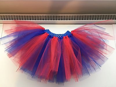 Blue and Red Spider-Man Superman Tutu Skirt Age 1-10 Years