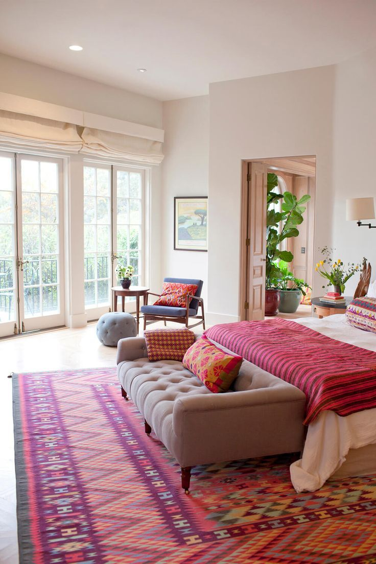 End of Bed Benches - if ONLY. But this bedroom's got to be at least 20x20. Not likely to find that in or near the city.