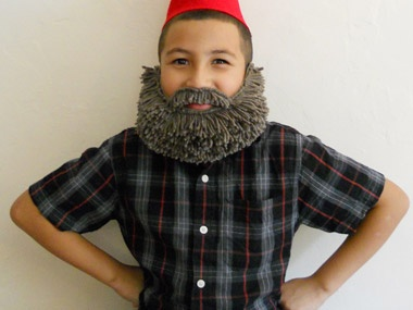 halloween costume beard long hair