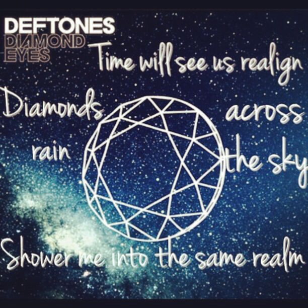 Collage I made. Deftones Diamond eyes lyrics