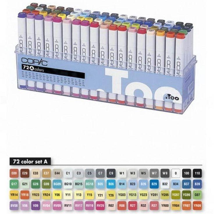 Копики Online. Оптовые и розничные продажи маркеров и аксессуаров Копик. Набор маркеров A Copic (72 шт)