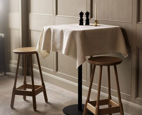 Albert Stools and Odette Table by Massproductions - stools
