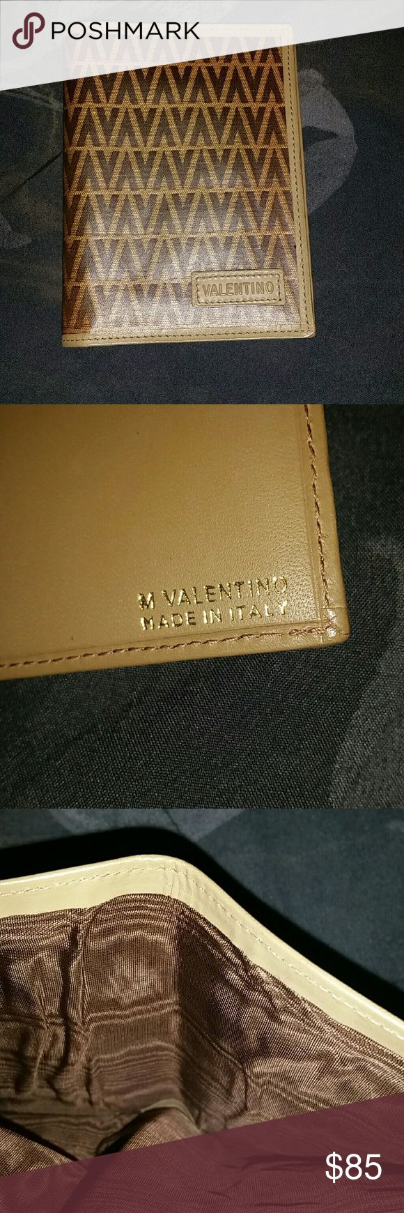 VALENTINO wallet A brown and tan Valentino wallet. Valentino Bags Wallets