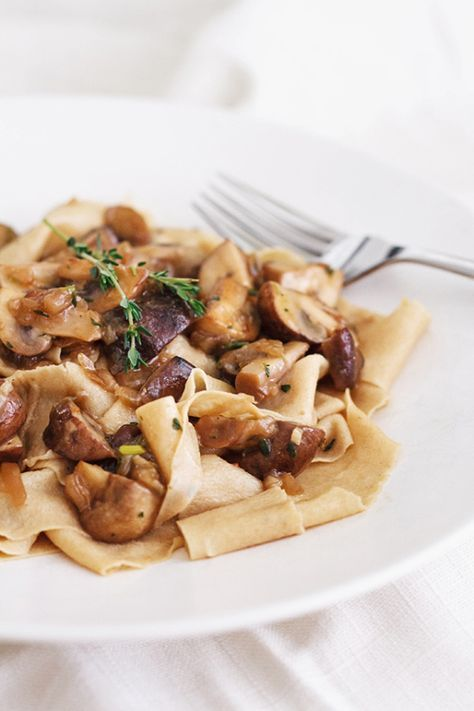 Toasted Pappardelle with MushroomRagu