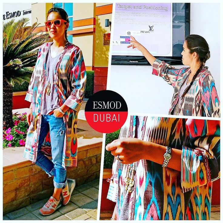 #ITLOEsmod Dubai Fashion Marketing student Sitora@sitora25Day 3wearing an#ikatpatterned coat by her brand@shadibydilbarandsitora @gap t-shirt @zara jeans and @newbalance sneakers. Its presentation day and Sitora chose @marcjacobs to talk about his brand history and marketing strategies. Im taking the Fashion Marketing program to improve my brand positioning. Ive already implemented some of the things Ive learned so far and its been great! I love it here! We love having you Sitora! Thanks for…
