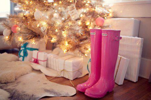 Botas de agua navideñas |