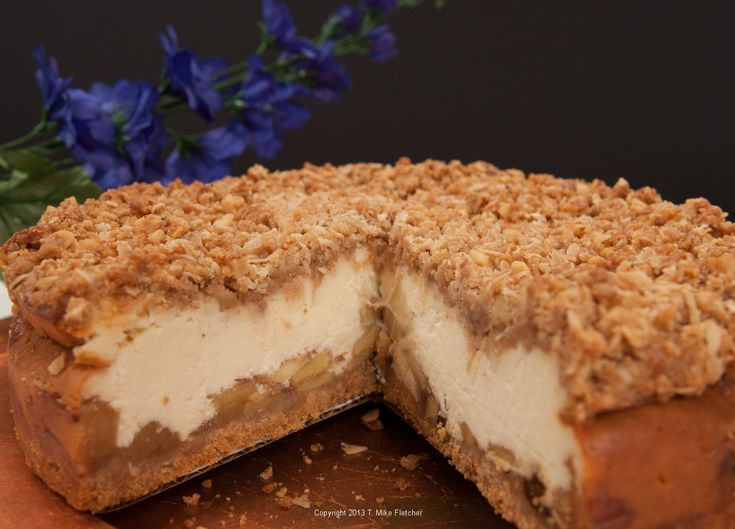 Apple Crisp Cheesecake...we have a winner for T-Giving!!