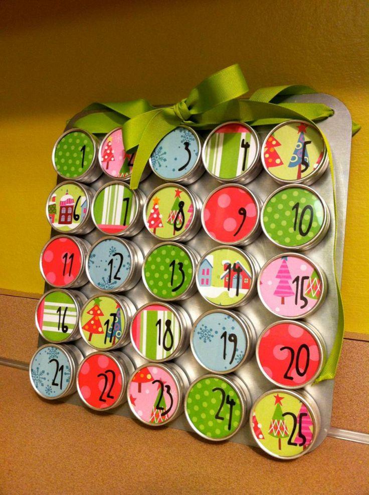 magnetic spice jars cookie sheet for advent calendar holiday celebrate pinterest jars. Black Bedroom Furniture Sets. Home Design Ideas