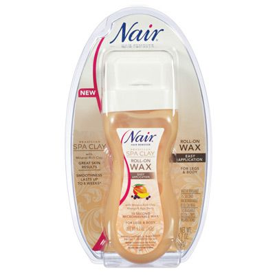 Nair Brazilian Spa Clay Roll-On Wax is mess-free so it's great for using on the bikini area.