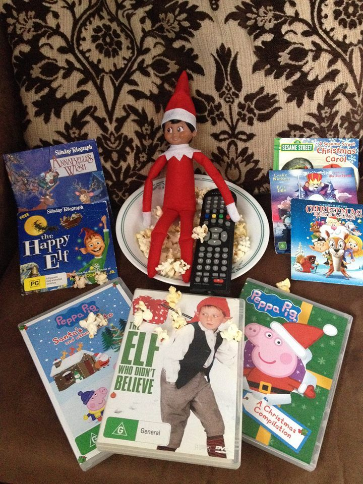 Elf on the shelf! DVD night with Xmas movies