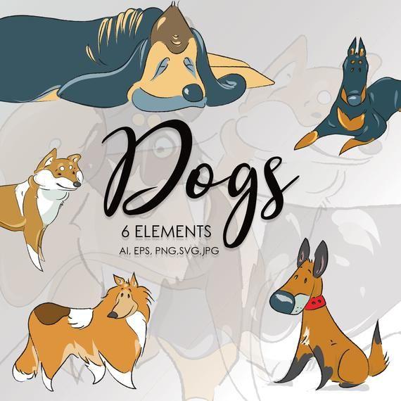 Dog Clipart Bundle Man S Best Friend Printables Dog Breeds Vector Bundle Dog Instant Download Commercial Use Clip Art Logo Sticker Mans Best Friend