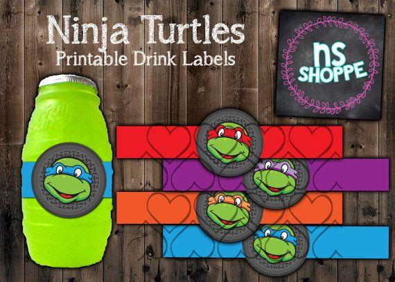 321 best ebs party hardy images on pinterest ninja turtle party tmnt drink labels instant download printable party supples teenage mutant ninja turtles filmwisefo