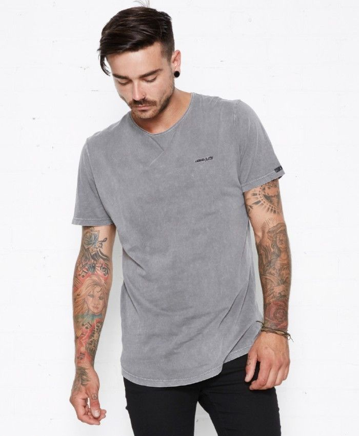 nana judy - Nana Embroidered Tee Acid Grey