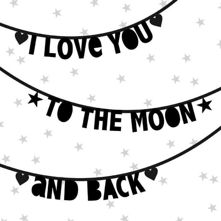 Een stoere valentijnskaart met letterslingers en leuke tekst in zwartwit. Plaats een persoonlijke boodschap binnenin.