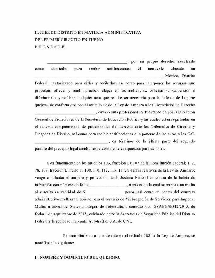 """""""FORMATO DE AMPARO CONTRA FOTOMULTAS"""". PERIÓDICO DIGITAL TOLUCA HOY, NOTICIAS ONLINE PERIÓDICOS. - PERIÓDICO ONLINE DIGITAL NOTICIAS"""