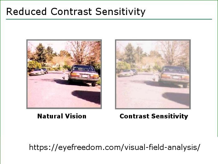 Visual field testing provides essential information about the diagnosis and progress of blindness causing diseases and Reduced Contrast Sensitivity.