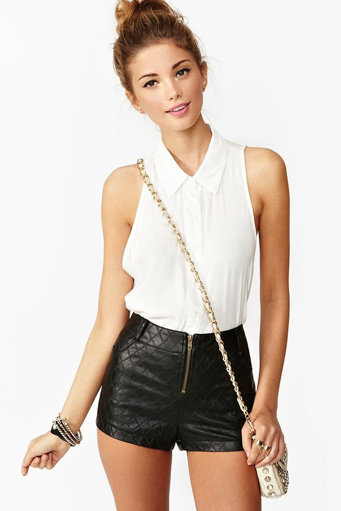 My motivation to get my buns in shape: Quilted Zip Shorts