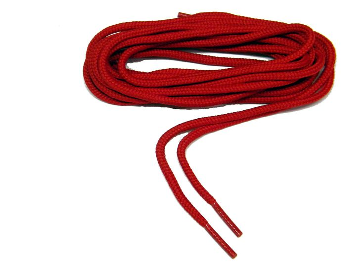 54 Inch 137cm Fire Engine Red Round Rugged Wear Polyester Hiking Boot Laces Shoelaces - 2 Pair Pack - $9