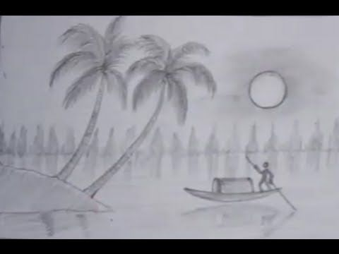 how to draw a realistic island
