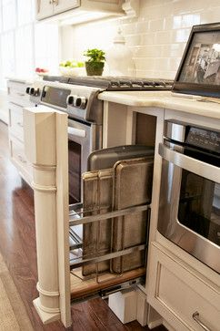 Cookie Sheet storage.  The Downs - traditional - kitchen - birmingham - Toulmin Cabinetry