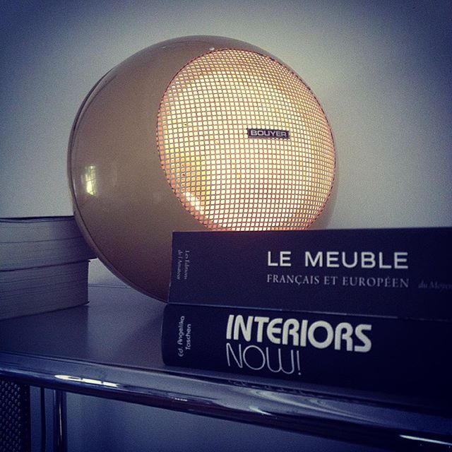 Today ... My first ... and only home made light with an old broken speaker found in viarme ( flea market in Nantes) #light #lampe #furniture #vintage #music #sound #bouyer #enceinte ... by le_lasseur