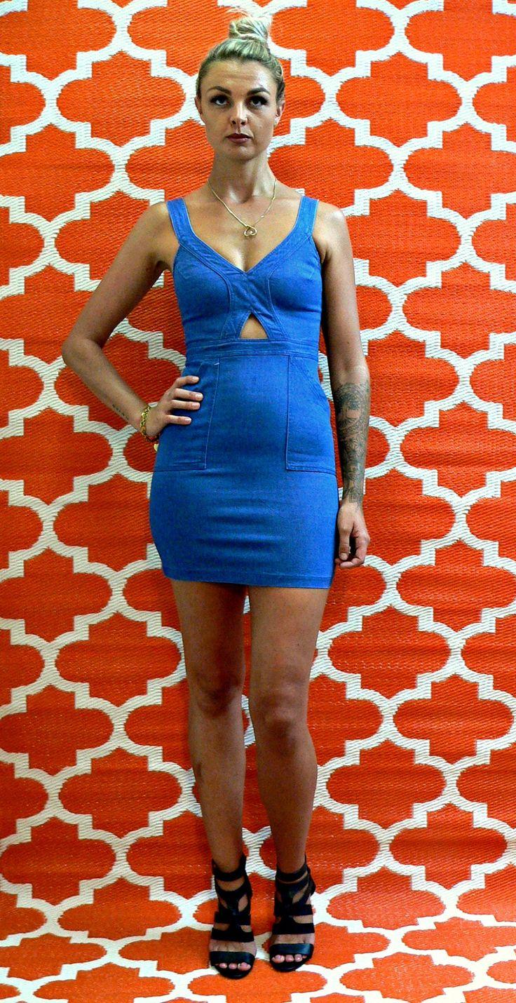 www.courtandspark.com.au denim dress, summer style, mini dress, demin