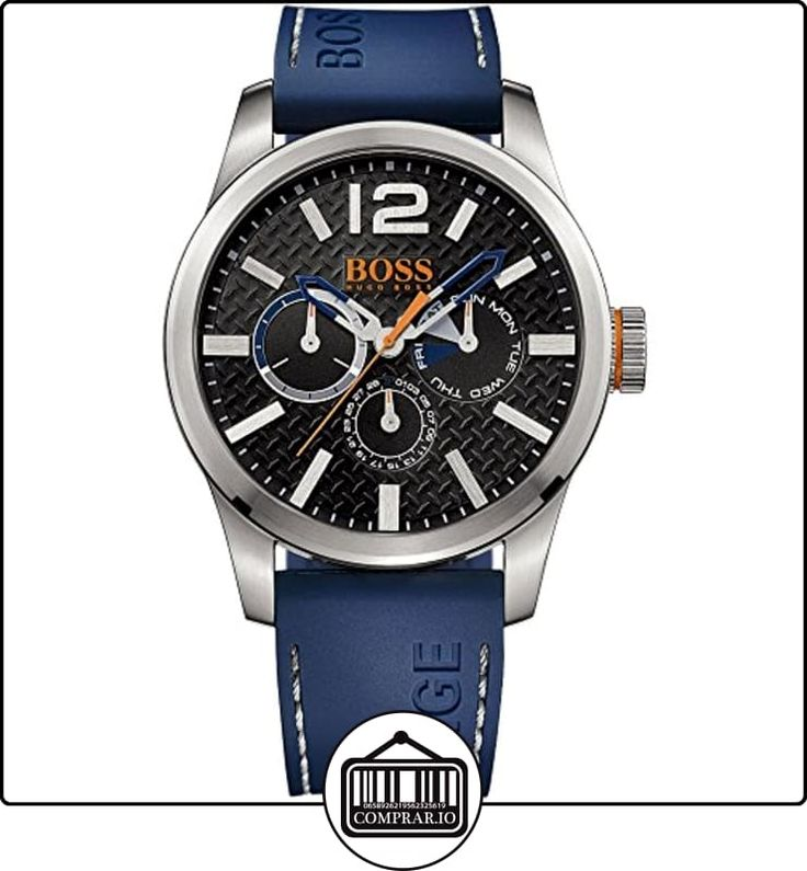 Hugo Boss Orange Mens Paris Blue Rubber Strap Black Dial 1513250 Discount  from…