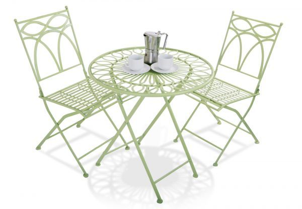Alium™ Pesaro Foldable Steel 2 Seater Bistro Garden Set £64.99