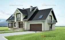 Проект дома из газобетонных блоков с мансардой «Туркус» (E-1080)