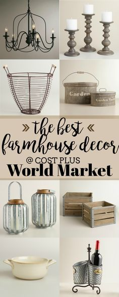 Amazon is definitely not the only place to get farmhouse items. Cost Plus World Market has a huge selection of brand new gorgeous items with a modern twist!&nb