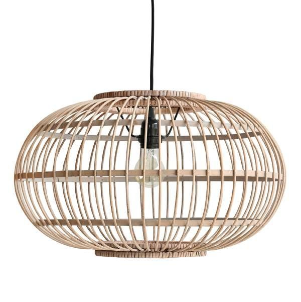 This Pendant Lamp Of HK Living Is Made Of Beautiful Natural Brown Bamboo.  The Lamp Fits Very Nicely Example Above The Dining Table Or
