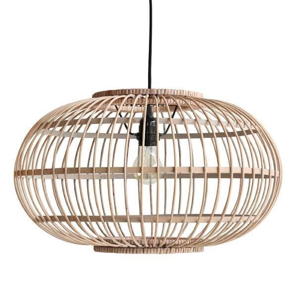 HKliving lamp Bamboe | Afm. HKliving Bamboe lamp : 47,5x47,5x28,5cm - De Tafel Van 10 (online) woonwinkel