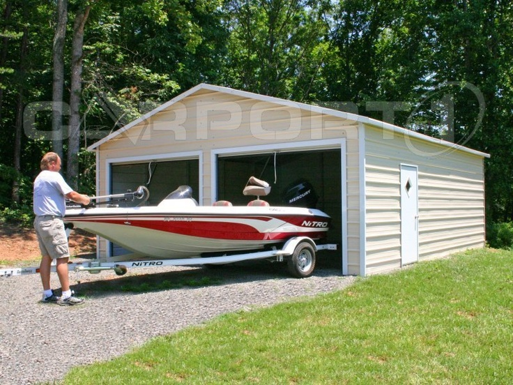 1000 images about metal garages steel garages metal for Boat storage garage