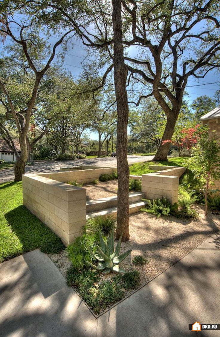 Как превратить двор на крутом склоне в сад с террасами