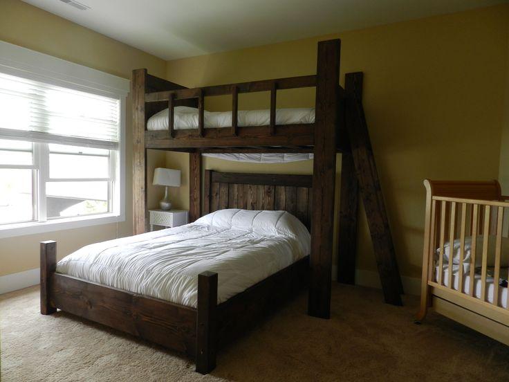 12 best twin over queen bunk bed images on pinterest. Black Bedroom Furniture Sets. Home Design Ideas
