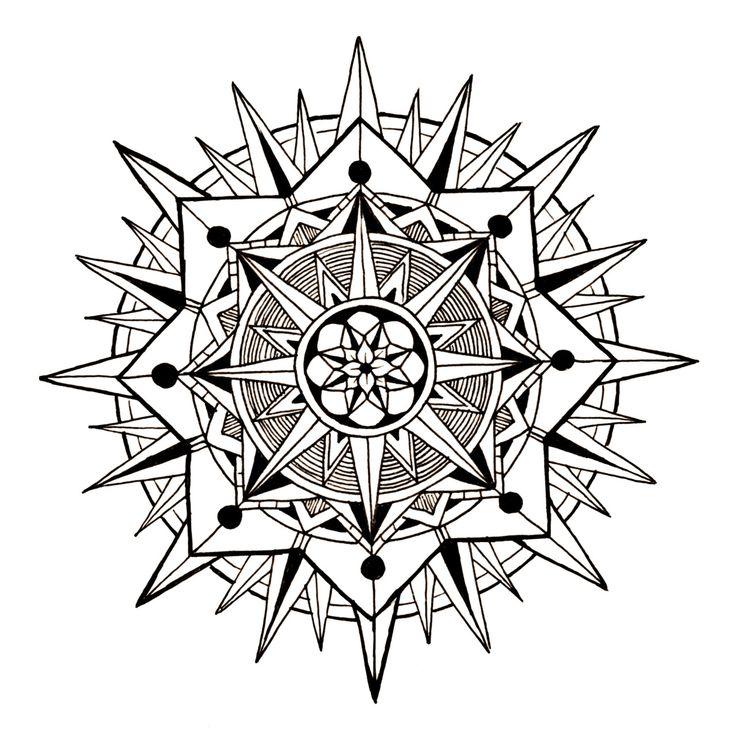 1000 ideas about mandala a imprimer on pinterest - Coloriage a imprimer mandala ...