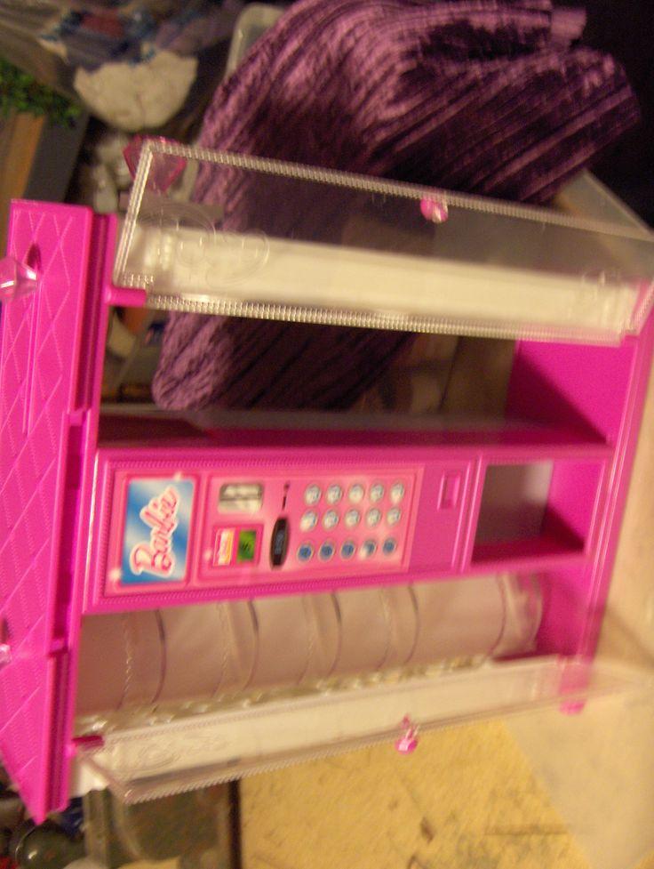 Barbie Vending Machine-before sans back panels already made into windows.