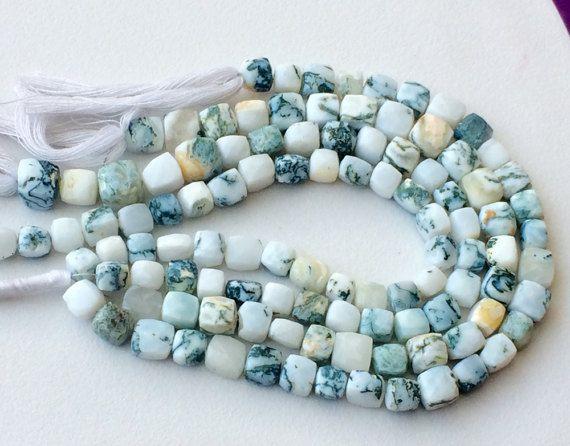 Australian Opal Cube Beads Garden Opal Faceted by gemsforjewels