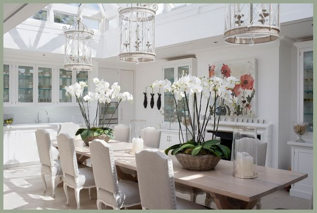 Love this conservatory-style dining room.